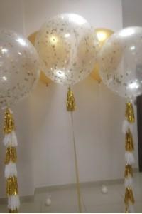 Набор из 5 больших шаров с гелием