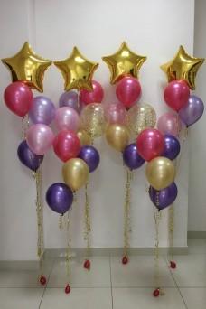 Праздничный набор - 6 фонтанов из шаров