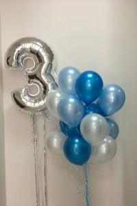 Набор шариков на празднование 3 лет мальчика