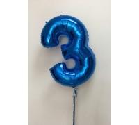 Фольгированная цифра 3