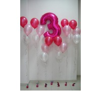 Фольгированная цифра 3 и 6 фонтанов
