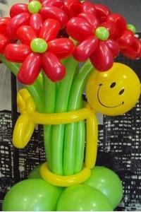 """Букет """"Смайлик с цветами"""""""