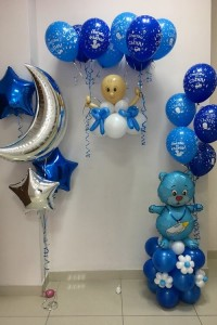 Набор воздушных шариков на рождение сына