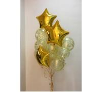 """Фонтан из прозрачных шаров с конфетти """"Золотое счастье"""""""