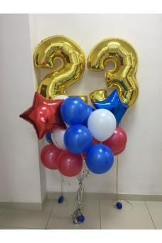 Комплект шаров на празднование 23 февраля