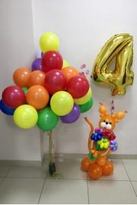 """Набор шаров на день рождения """"Белочка"""""""