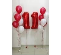 Набор шаров на день рождения №1 Алый