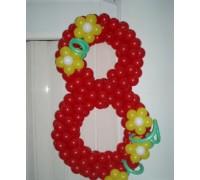 Цифра 8 из шариков