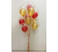 Красные и золотые шар в шаре