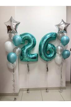 """Набор из шаров на день рождения """"Тиффани"""""""