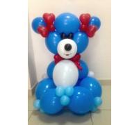 Мишка синий