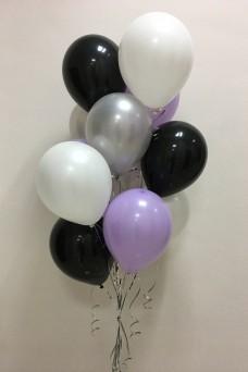 Фонтан из 11 гелиевых шариков