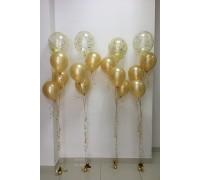 """Гелиевые шары """"4 золотых фонтана"""""""