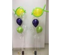 """Два фонтана из шариков с гелием """"Рыбки"""""""