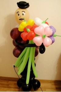 Мужчина с цветами №3