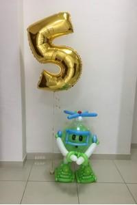 Робокар Поли с фольгированной цифрой