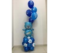 Фольгированный медведь  с шарами