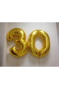 Фольгированные шары цифры 30