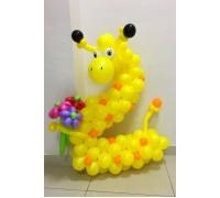 """Цифра 2 """"Жирафик с цветами"""""""