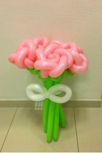"""Букет из шаров """"Розы с бантом"""""""