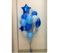 """Фонтан из шаров """"Синие счастье"""""""