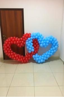 Сердца из шариков
