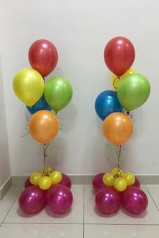 2 цветных фонтана из шаров
