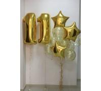 Цифра 11 и фонтан из шаров