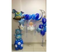 Набор шариков на рождение сына №2