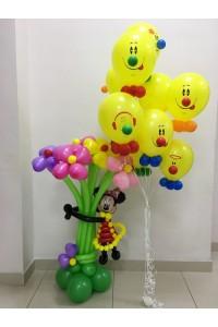 """Набор из шаров """"Веселая Мини с цветами и веселыми смайлами"""""""