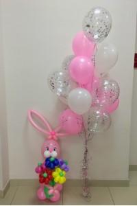 """Набор из воздушных шаров и фигуры """"Зая"""""""