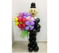 Мужчина с цветами №1