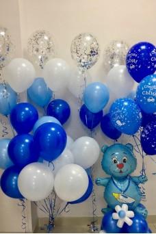 Набор из воздушных шариков на рождение сына № 2.