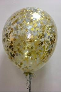 Большой шар с золотым конфетти
